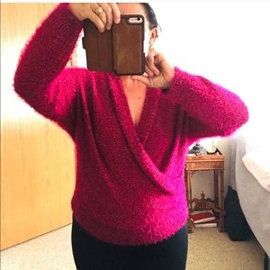 COZY PINK KNIT SWEATER SIZE 2X. NEW.
